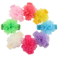 Wholesale ordering hair accessories for sale - Group buy Brand new New baby hair with children chiffon flower with hair accessories TG137 mix order pieces a