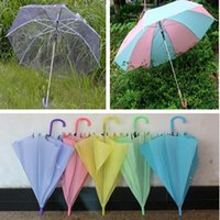 Wholesale 57cm Big Clear Long Handle Umbrella Transparent rainbow Wind Sun Rain Resistance Kids Adult Household Sundries Umbrellas
