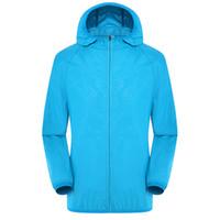 Wholesale anti uv jacket for sale - Men Women Quick Dry Hiking Jacket Waterproof Sun Protection Anti UV Coats Outdoor Sport Skin Jackets Rain Wear Jackets