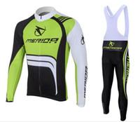 меридиновая майка оптовых-Мерида зеленый велоспорт с длинным рукавом Джерси 2017 Майо ciclismo, езда на велосипеде одежда, мотоцикл Велоспорт одежда