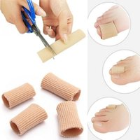 Wholesale Gel Separators - Feet finger corrector Insoles Fabric Gel Silicone Tube Bunion Toes Fingers Separator Divider Protector Corns Calluses