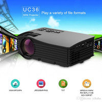 Geführtes Proyktor Multimedia Kaufen -UNIC UC36 + WIFI Mini Projektor Throw 130inch Portable Multimedia LED Projektor mit HD USB Proyector Heimkino Beamer