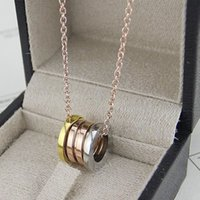 Wholesale luxury titanium steel k plated mix color spring necklace famous brand jewelry instagram new arrive