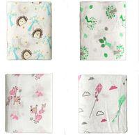 Wholesale Soft Swaddle Blankets - Maternity Newborn muslin swaddle Blanket 70%Bamboo 30%cotton Double layer 120*120cm Soft Wraps Towels Swaddles Bath Towels Parisarc 2016
