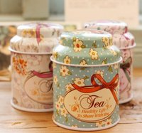 Wholesale garage storage containers - Europe type style Tea caddy receive box candy storage box wedding favor tin box cable organizer container household