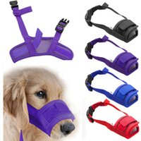 Wholesale Plastic Muzzle - 1X Dog Adjustable Mask Bark Bite Mesh Mouth Muzzle Grooming Stop Chewing The latest listing
