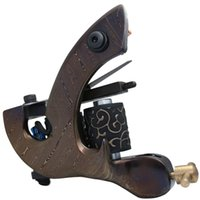 Wholesale Tattoo Custom Machines Frame - 5Pcs lot Professional Damascus Tattoo Machine 10 Wrap Coils Iron Cast Frame Custom Tattoo Gun For Liner Shader DTM-7595