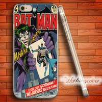 Wholesale silicone batman cases for sale – best Capa Joker and Batman Soft Clear TPU Case for iPhone S Plus S SE C S Case Silicone Cover