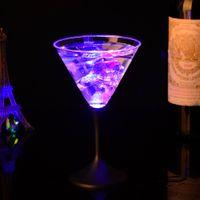 Wholesale flashing led goblet resale online - Luminous LED Light Cup Creative Chameleon Goblet Cann Colorful Flash Cocktail Cups Valentine The Most Cheap Hot Sale jc R