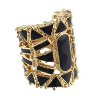Wholesale Three Finger Rings Sale - Fashion jewelry hot sale hollow out enamel vintage finger rings