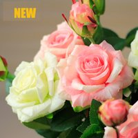 Wholesale Wedding Decoration Buy - Wholesale- 15 Pieces(10 or 5 pcs also can be bought)Home Wedding Decoration Flowers Two-Headed Real Touch Quality Artificial Flowers Roses