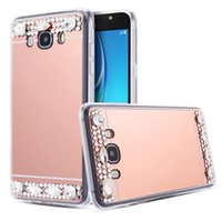 Wholesale iphone cases rhinestones handmade - Bling Glitter Diamond Mirror TPU Case Handmade Rhinestone Crystal Soft TPU Case for Iphone 5 6s 6s plus 7 7plus 8 8plus x Samsung S6 S7 S8
