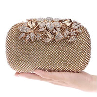 Wholesale Silver Beaded Evening Bags - 2017 New Cheap Fashion BlingBling Diamond Crystals Women Bridal Party handbags Clutch Evening Bags Black Silver Gold with Chains CPA809