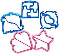 Wholesale Dolphin Cutter - Sandwich Cutter, Cookie Cutter, Bread cutter - Set of 6 - Butterfly, Dinosaur, Dolphin, Elephant, Star, Square free shipping