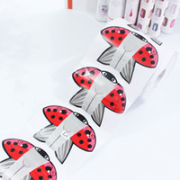 Wholesale Acrylic Red Nail Tips - Wholesale- 20Pcs Red Kite Adhesive Nail Form For Acrylic UV Gel Nail Tips Extension Manicure Nail Art Tool