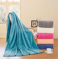 Wholesale Wholesale Bath Sheets Towels - cotton Bath Towel Beach Larger Pure color towel Home textile bath sheet 180*90cm bath towel 5 color KKA1585