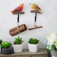 Oiseaux Resin Coat Porte Cintres High Load-Bearing Creative Resin Décor Design Hanger Hanging Clothes Crochets Sticky Decorative Wall Hook