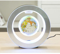 Wholesale World Globe Gifts - Levitation Floating Globe Rotating Magnetic Mysteriously Suspended In Air World Map Home Decoration Crafts Fashion Holiday Gifts