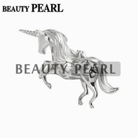 Wholesale 925 sterling horse pendant - Bulk of 3 Pieces Unicorn 925 Sterling Silver Jewellery Horse Pendant Pearl Party Wishing Pearl Cage