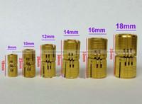 ingrosso cerniera in ottone-Wholesale- 4pcs 12mm Brass Barrel Hinge cerniera cilindrica nascosta cerniere nascoste invisibile mortasa cerniera montaggio SMB 40914309