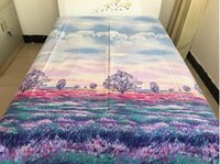 Wholesale High grade cotton fabrics Bed sheets Provence flower printing sheet bedding Supplies can be customized