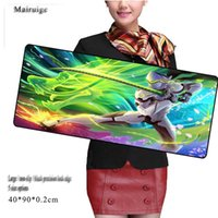Wholesale Character Notebook - large size mouse pad custom classic game character pattern black precision lock edge anti-slip office notebook computer keyboard game paD