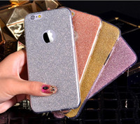 Wholesale Colourful Mobiles - For iPhone7 iPhone 6s Ultra-thin Flashing Powder Mobile Phone Case TPU Soft Case Luxury Colourful Shell Wholesale with Opp Package via