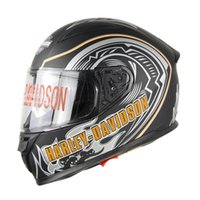 Wholesale Motorbike Full Face Helmets - High Quality Newest Harley motor Helmets Double Lens Motorcycle Helmet Motorbike Casque Men Spoiler Hybrid Moto Casco Casque HL909