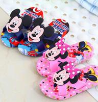 Wholesale Cool Boys Slippers - Kids Beach Flip-Flops Girls Minnie Sandles Boys Cool Mouse Slipper Cartoon Slippers Summer Shoes Casual Slippers Sandalias KKA1664