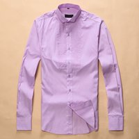 Wholesale White Purple Wedding Downs - 2017 hot fidget brands men's long sleeved wedding dresses, XL M-3XL shirts, 1 pieces, free shipping