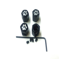 Compra Noci Cani-100 set X Car Styling anti-furto Bear Dog Paw Print Logo Valvola della gomma della rotella Stem Air Cap Per auto Wheel Dado