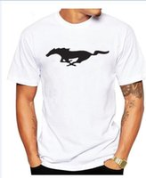 Wholesale Mustang Brand - Ford Mustang car logo cotton Brand t shirt for women and men clothing cotton short-sleeved t shirt