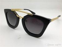Wholesale Fashion Cinema - sunglasses 09Q cinema sunglasses coating mirror lens polarized lens vintage retro style square frame gold middle women designer