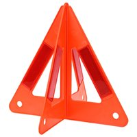 Wholesale Car Warning Triangle - Auto Car Safety Emergency Reflective Warning Triangle Portable to Carry Raise Red Warning Sign Prevent Rear-end Collision