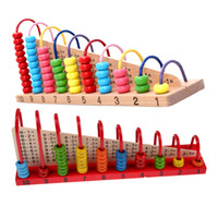 Wholesale Counting Abacus - Wholesale- Kids Wooden Toys Multicolor Children Abacus Counting Beads Maths Learning Educational Math Toys