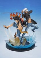 Wholesale one piece law toys for sale - One Piece Luffy and Trafalgar Law Figuarts Zero Boxed Action Figures PVC Anime Toys Japanese Cartoon Doll Toys