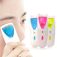 Wholesale Electric Eye Curler - Electric Automatic constant temperature Long Lasting Heated Eyelash Eye Lashes Curler Clip Tool Beauty Makeup Eyelash Curler