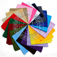 Wholesale Cheap Knitted Scarfs - Wholesale Cheap National Cotton Paisley Bandanas HIPHOP Double Side Head Wrap Scarf BBOY Wristband