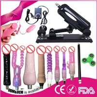 Wholesale Sexy Furniture Toy - 2017 Sexy Adult Furniture Sex Machine gun with Dildo Sex Toy For Couples Thrusting Automatic Powerful Sex 100-250V dhl free ship