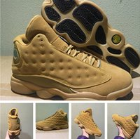 Wholesale Wheat Free - Retro 13 Wheat man basketball shoes with box best quality air 13S size 41-47 free shippnig wholesale