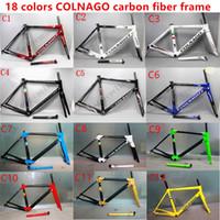Wholesale Bike Frame Pink - 2017 HOTSALE 18 colors colnago C60 carbon road frames carbon frame 46 48 50 52 54 56cm T1000 carbon bike frames