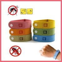 Frete Grátis Mosquito Insect Repelente Band Braceletes Anti Mosquito Pure Natural Bebé Wristband Hand Ring 112903
