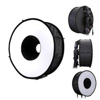 """Wholesale Round Box For Ring - 18"""" 45cm Round Universal Collapsible Magnetic Ring Flash Diffuser Soft Box for Canon, Nikon, Yongnuo, Sony(Simplified Version)"""