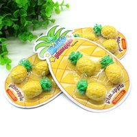 Wholesale Pineapple Games - Yellow Pineapple Erasers Pupil Painting Correction Articles Office Stationery Supplies Student Game Gift Fruits Eraser Lovely 1 5cs C R