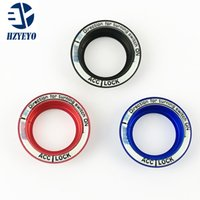 Wholesale Ford Ignition - For 2005 - ford focus 2 3 luminous aluminium alloy ignition key ring cover decoration stickers for focus
