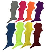 Wholesale Neoprene Handles - Shark Tail Popsicle Sleeves Colored Neoprene Ice Pop Handle Kids Freezer Popsicle Holder Kids Gift Pop Wraps DOM106558