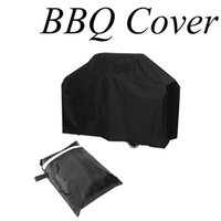 Wholesale Heat Shield Cover - Wholesale- Waterproof BBQ Grill Black Cover Garden Patio Rain Anti Dust Proof Barbecue Party Protecter Shield