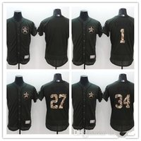 Wholesale Cheap Wholesale Wines - Stitched Houston Astros Jersey cheap #34 Nolan Ryan Jersey Baseball #27 Jose Altuve #1 Carlos Correa Army Green Flexbase Baseball jerseys