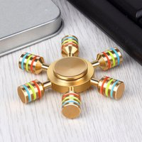 NUOVO SHINEHENG Mano Spinner Ottone Luminoso Agitarsi Spinner Giocattolo EDC Finger Spinner Anti Stress Wheel Giocattoli Stres Spiner Song Stress Cube DHLship