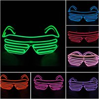 LED Party Glasses Moda EL Wire Glasses Aniversário Halloween Christmas Party Bar Fornecedor decorativo Luminous Glasses Eyewear 10 Colors